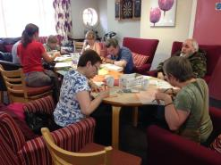 Victoria square gardens workshop 2 with Cross Acres knitting group